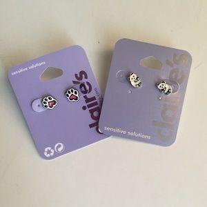 Claire's Cute Earrings 🐼🐶